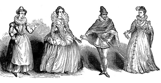 Saia é uma arma séria no arsenal feminino da Renascença
