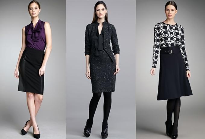 A saia é uma arma séria no arsenal feminino midi