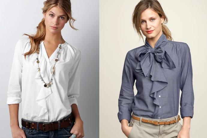 Blusa - uma coisa indispensável no guarda-roupa das mulheres