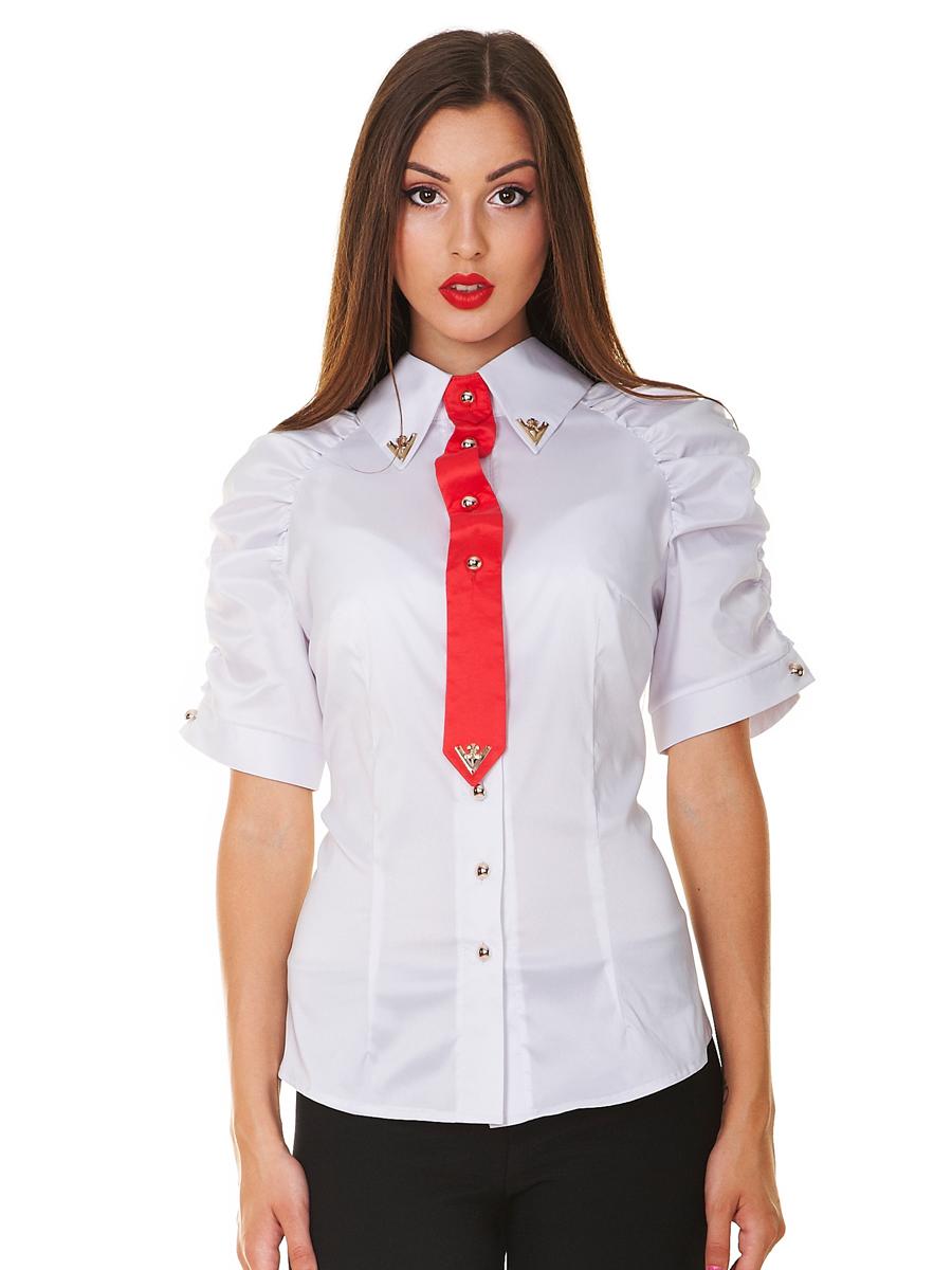 Женские рубашки с галстуком фото