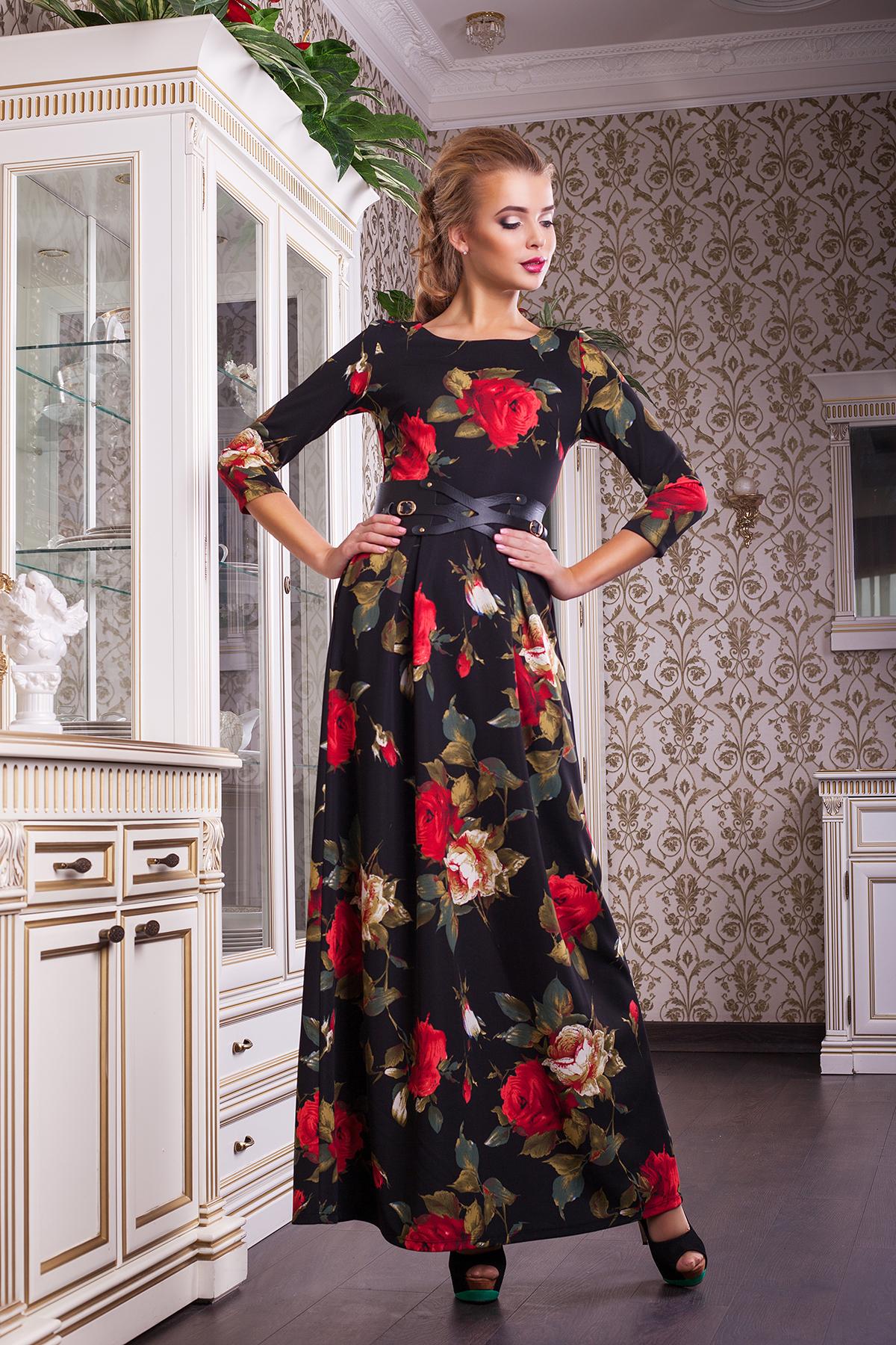 Платья с цветочным принтом: 35 фото. С чем носить платья с 61
