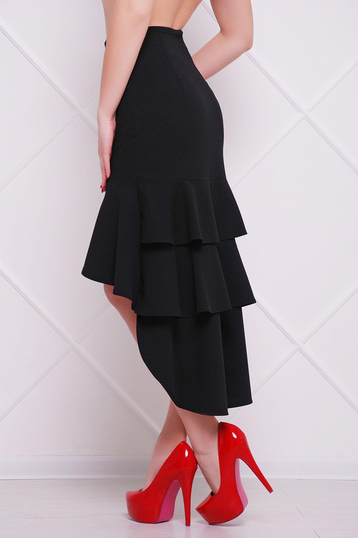 Длинная юбка с воланами